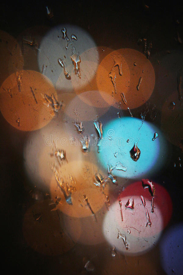 Bokeh and water drops stock images
