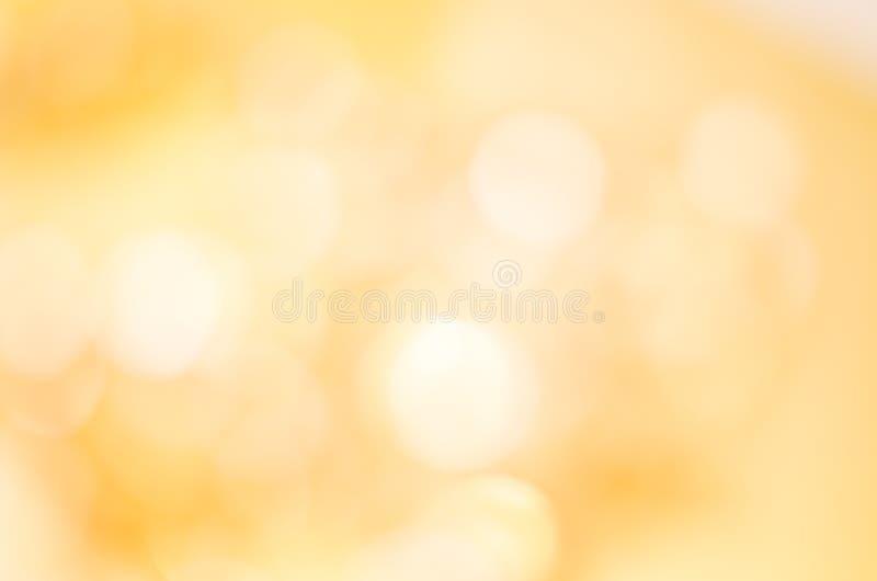 Bokeh złoty Żółty Tło obrazy stock