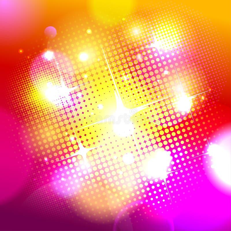 Bokehachtergrond met pop-artpunten. vector illustratie