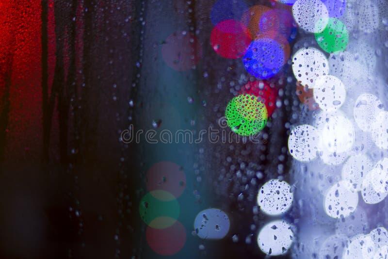 Bokehvormen op kleurrijke achtergrond vector illustratie