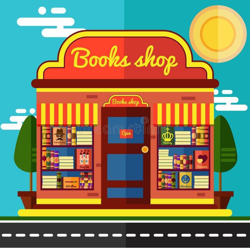 Boken shoppar vektorillustrationen vektor illustrationer
