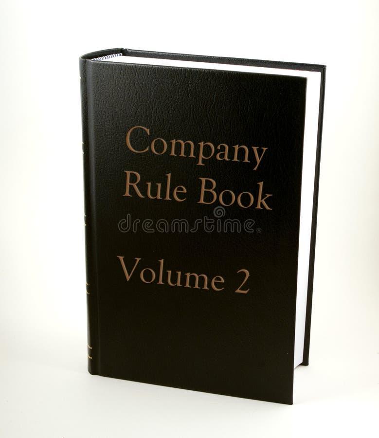 bokföretagsregel royaltyfria bilder