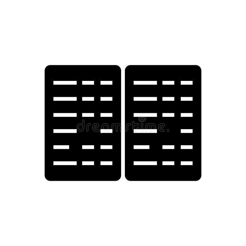 Bokföring - budget- symbol, vektorillustration, svart tecken på isolerad bakgrund royaltyfri illustrationer