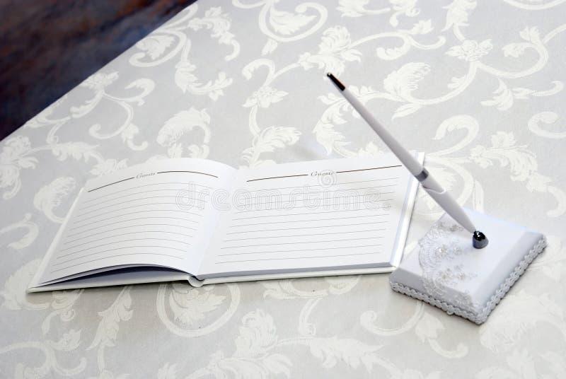bokgästbröllop royaltyfri bild