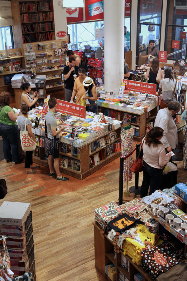 bokhandel berömda manhattan royaltyfri foto