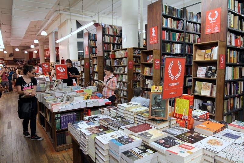 bokhandel berömda manhattan arkivfoto