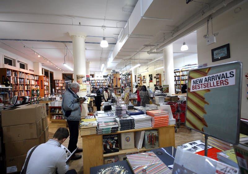 bokhandel berömda manhattan arkivbilder