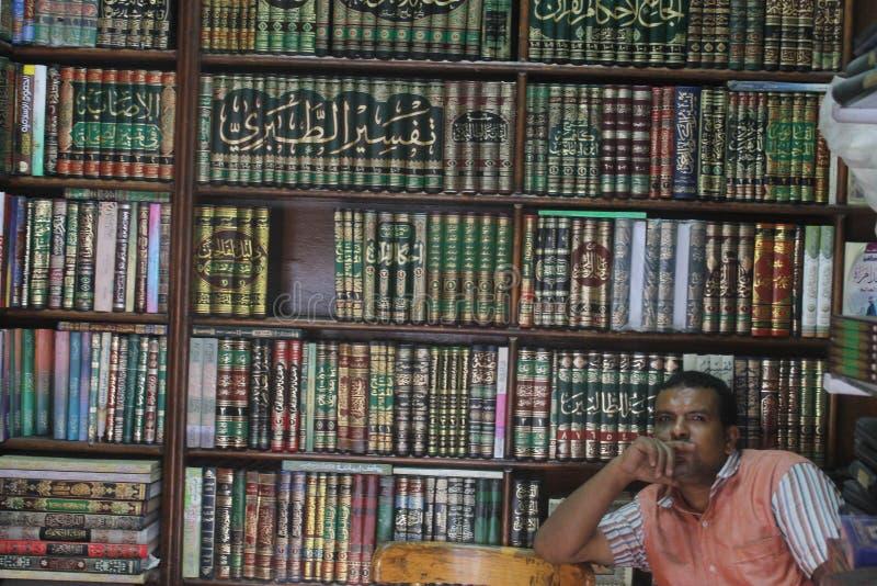 Bokhandel i Egypten royaltyfria bilder