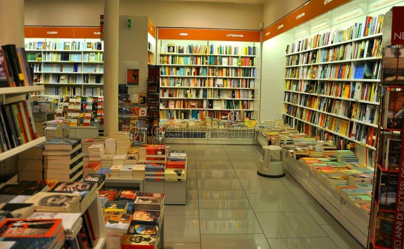 bokhandel italy fotografering för bildbyråer