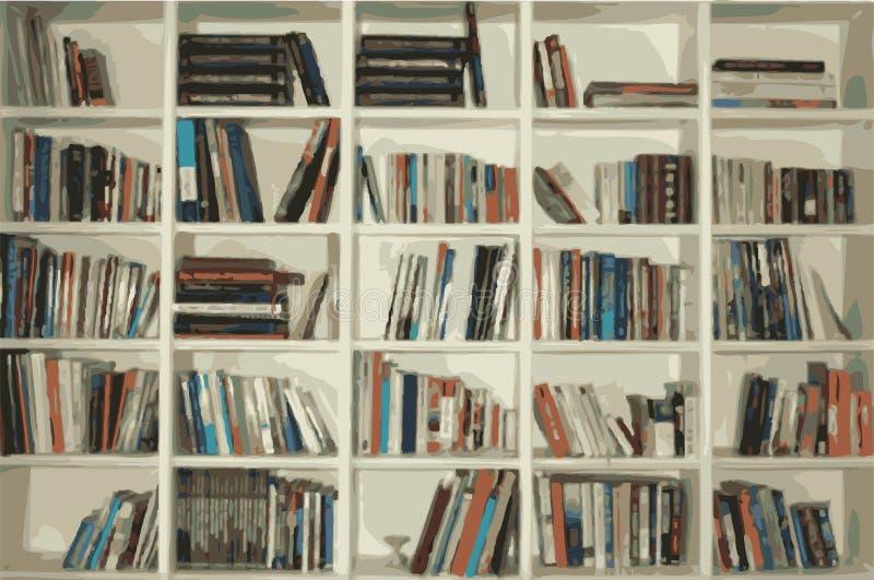 bokhylla stock illustrationer