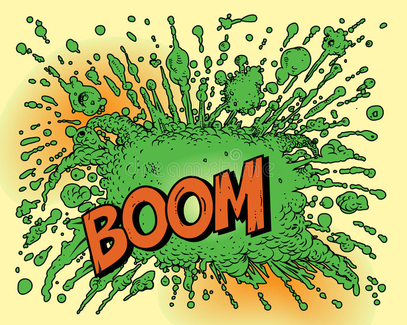 bokkomikerexplosion royaltyfri illustrationer