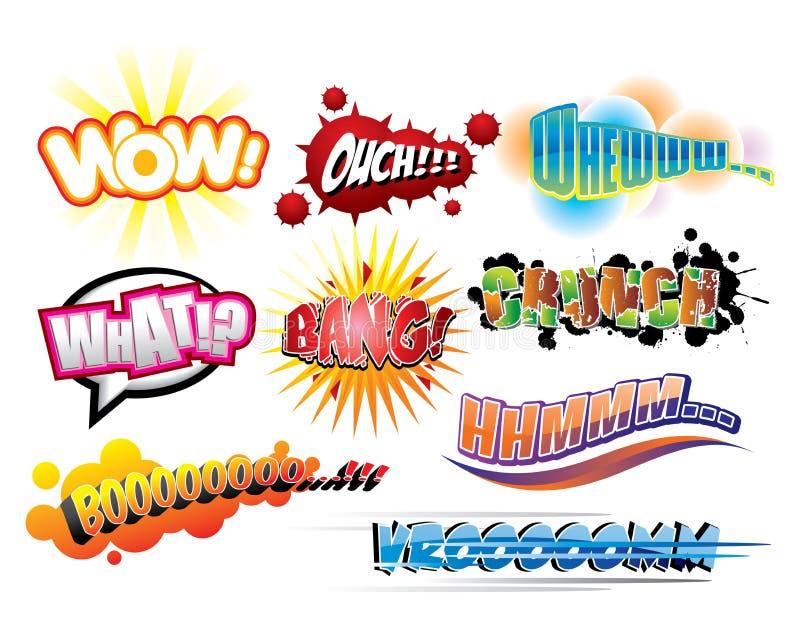 bokkomikerexplosion stock illustrationer
