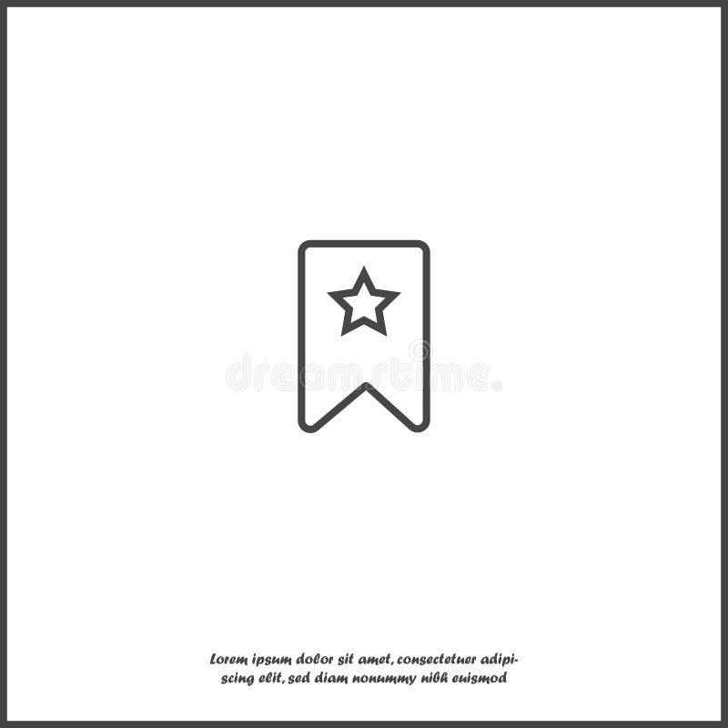 Bokmärke med stjärnan på vit isolerad bakgrund Lager som grupperas för lätt redigerande illustration vektor illustrationer