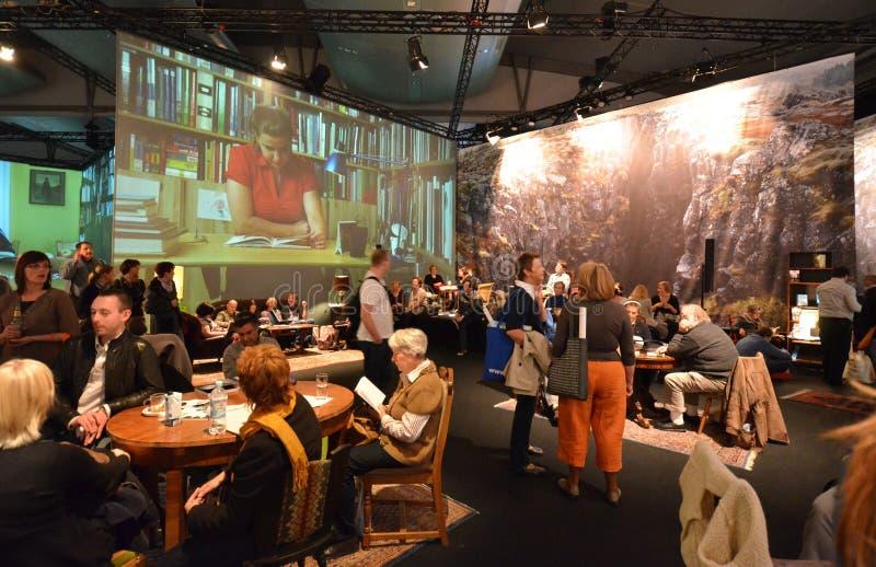 bokmarknad frankfurt iceland royaltyfria bilder