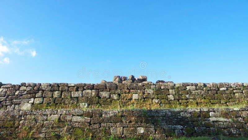 boko复杂宫殿ratu石墙 免版税库存照片