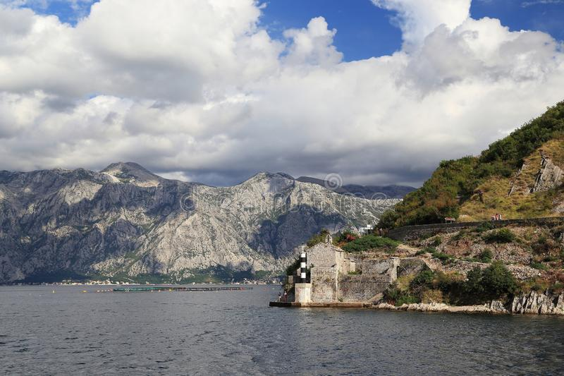 Church of the Virgin of the Angels in Boko Kotor Bay, Montenegro royalty free stock photos