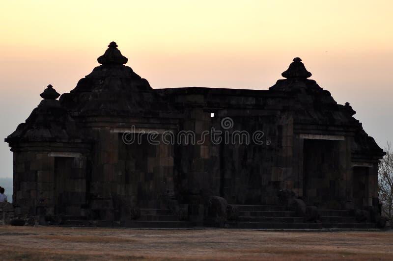 Boko-Tempel ein altes Gebäude gemacht vom schwarzen Naturstein lizenzfreies stockfoto