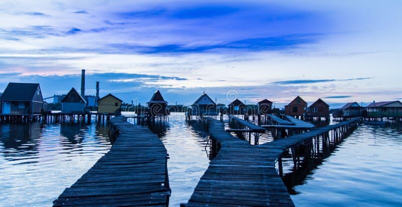 Bokod visserijdorp stock foto