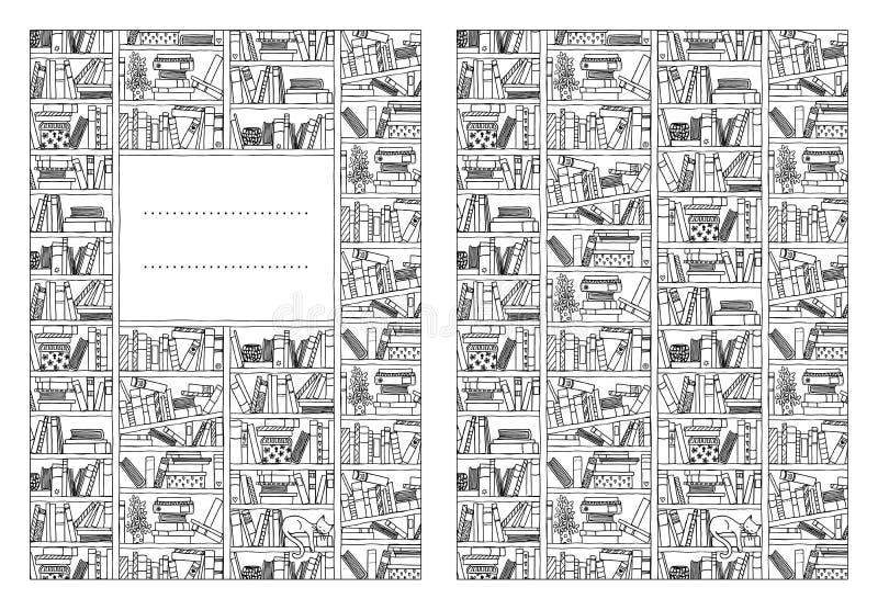 Bokomslagmall stock illustrationer