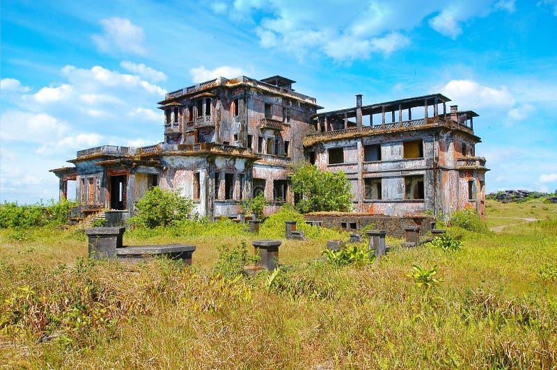 Bokorberg en het Nationale Park van Bokor in Kambodja stock fotografie