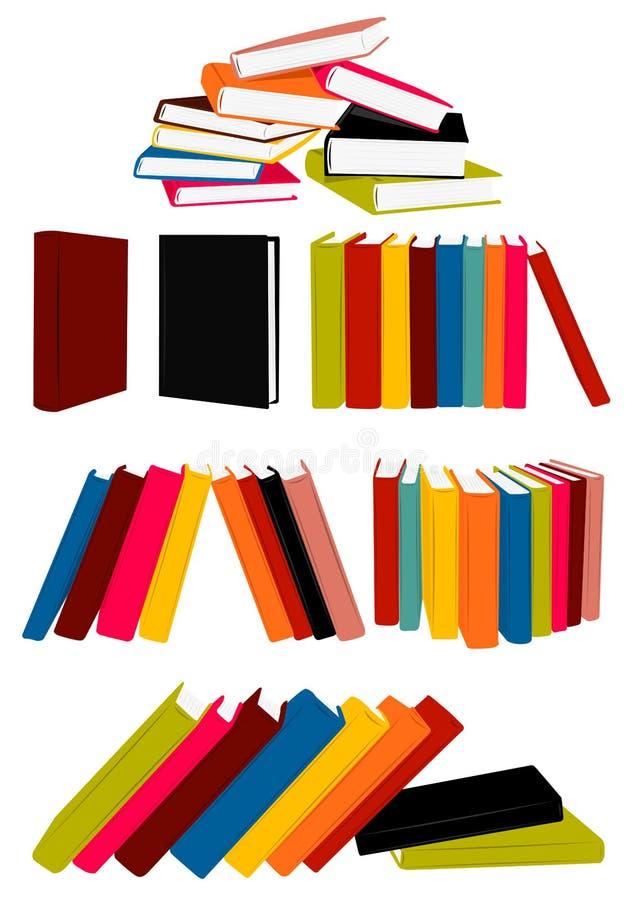 boksamling stock illustrationer
