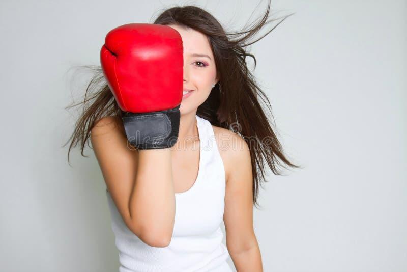 bokserów potomstwa żeńscy uśmiechnięci fotografia royalty free