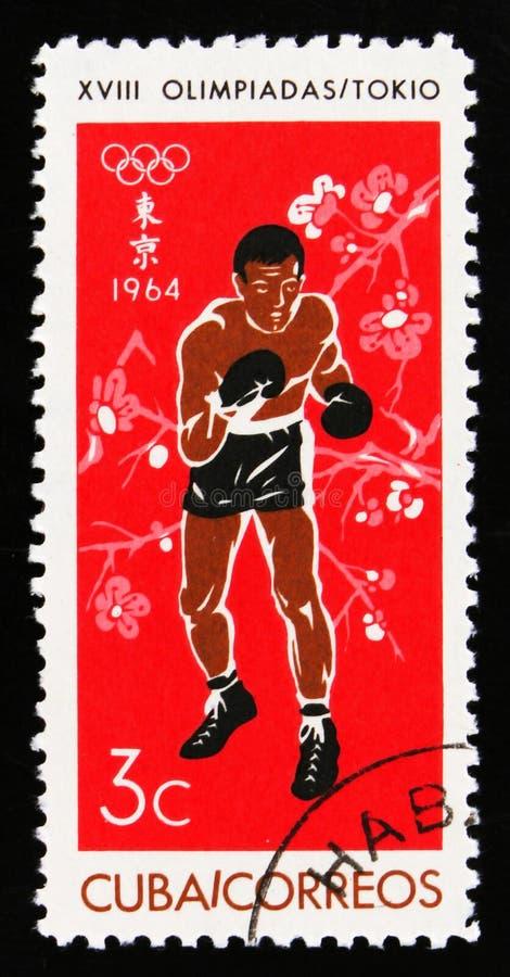 Bokser, 18de Olympische spelen in Tokyo, circa 1964 stock fotografie