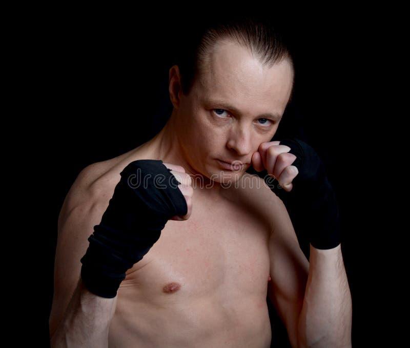 bokser postawa defensywna męska zdjęcia stock