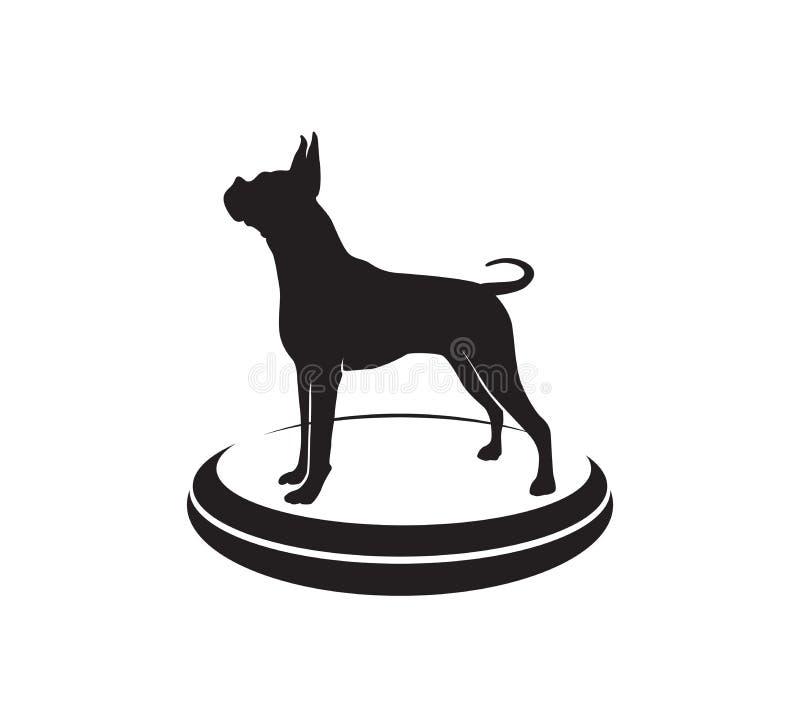 bokser psiej gwiazdy mistrzostwa ikony logo turniejowy wektorowy projekt ilustracji