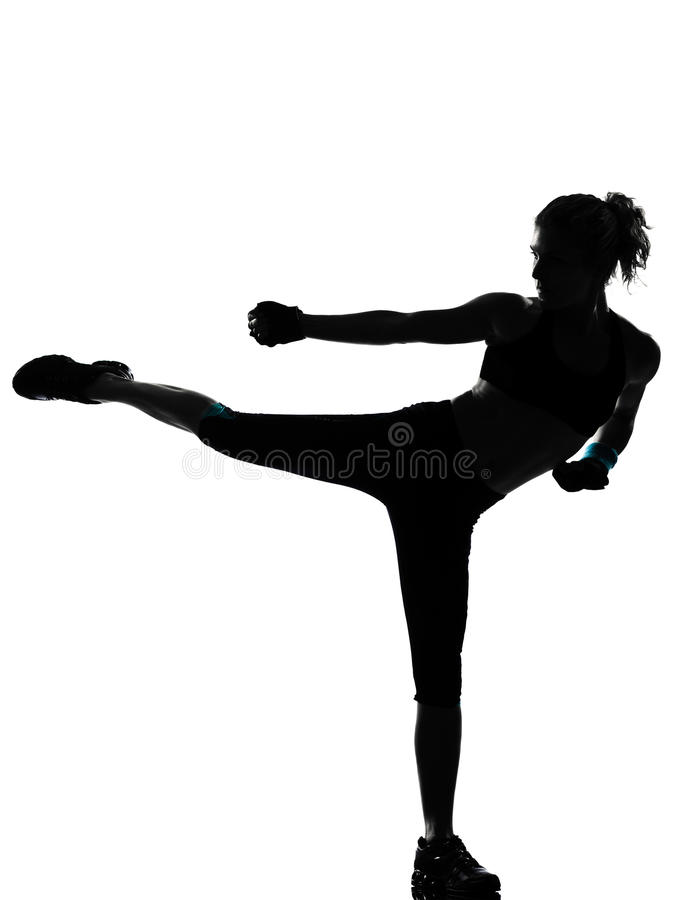boksera boksu kickboxing postury kobieta obrazy stock
