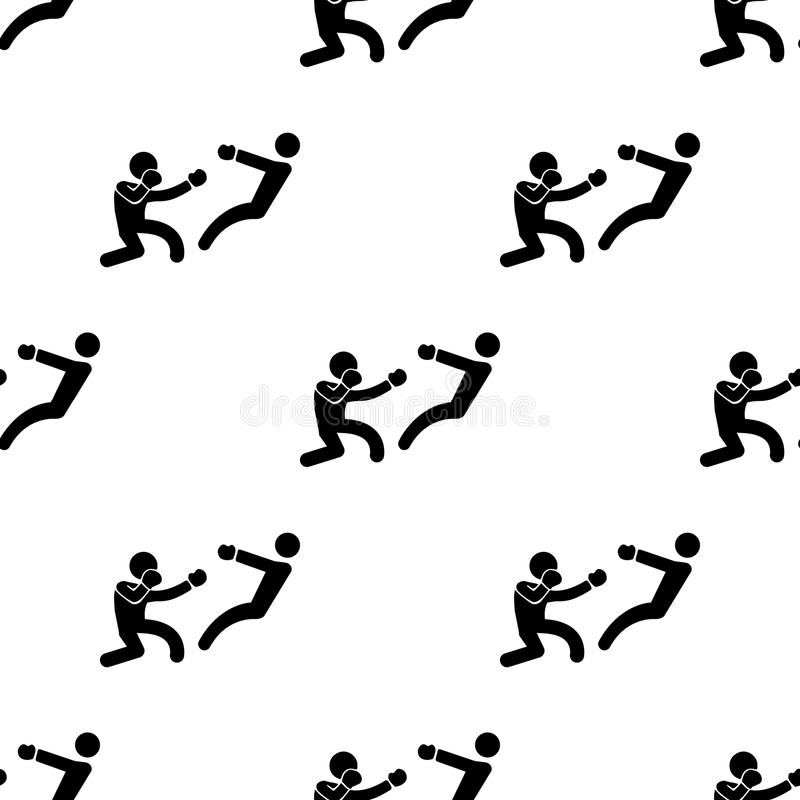 boksera knockdown ikona Element walk ikony dla mobilnych pojęcia i sieci apps Deseniowej powtórki boksera knockdown bezszwowa iko ilustracja wektor