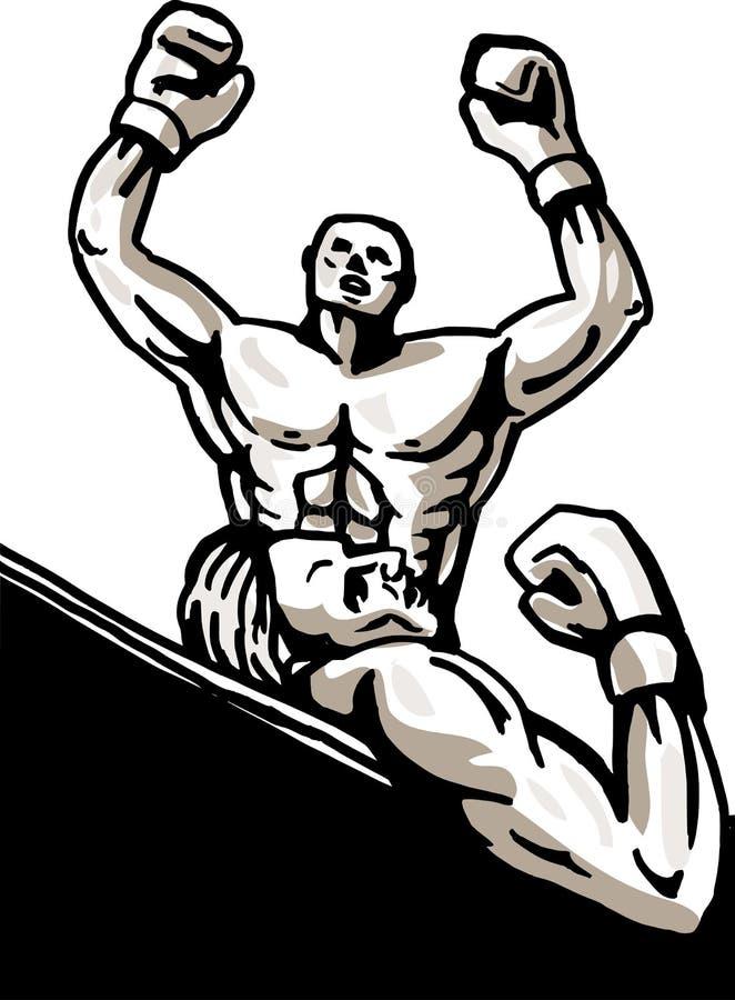 boksera knockdown wygranie royalty ilustracja