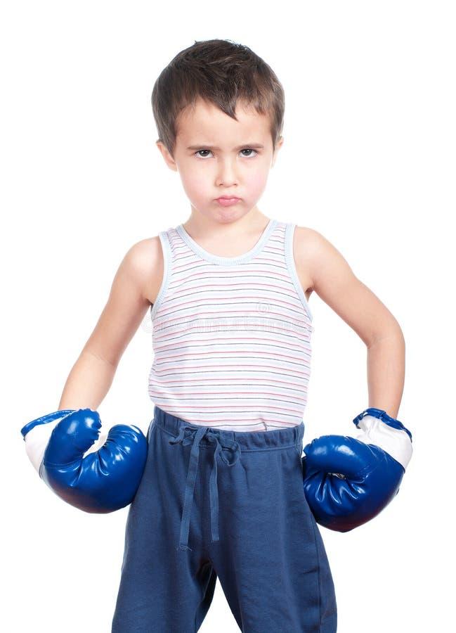 boksera mały niebezpieczny zdjęcie stock