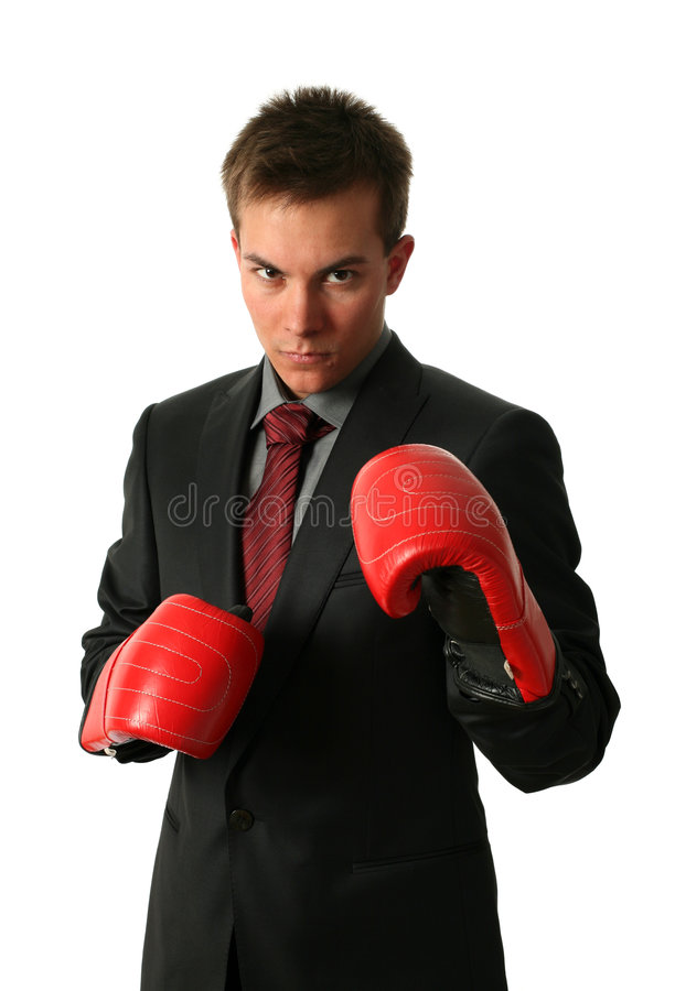 bokserscy biznesmeni obrazy stock