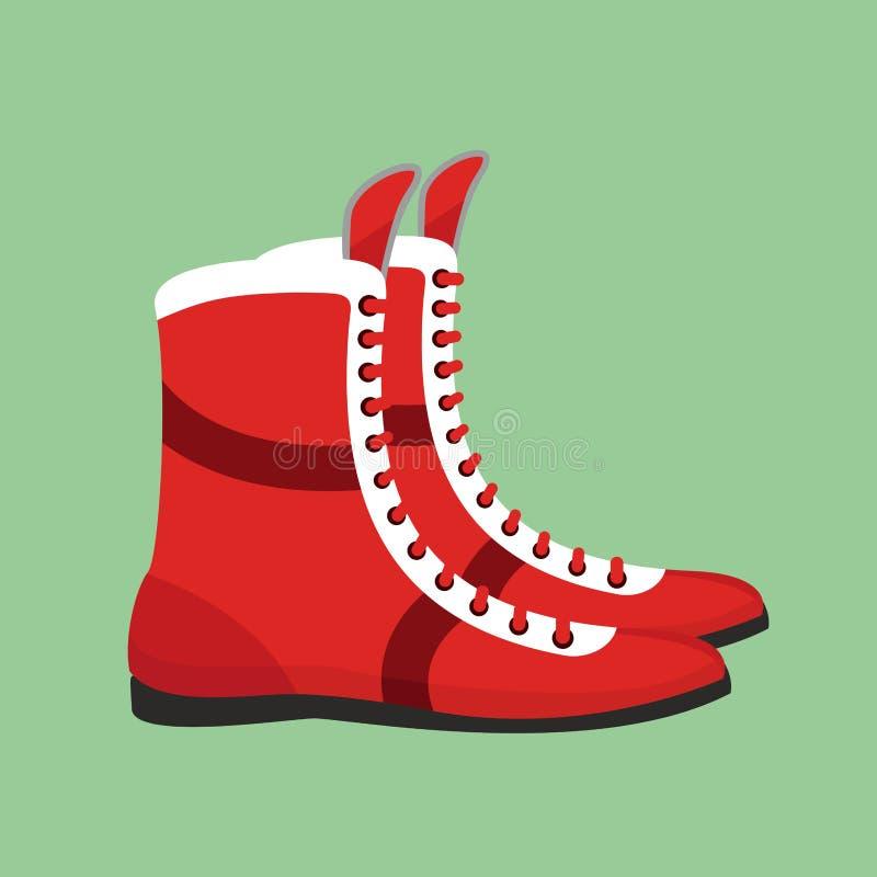 Bokserscy buty Retro obuwie dla boksera szkolenia ilustracji