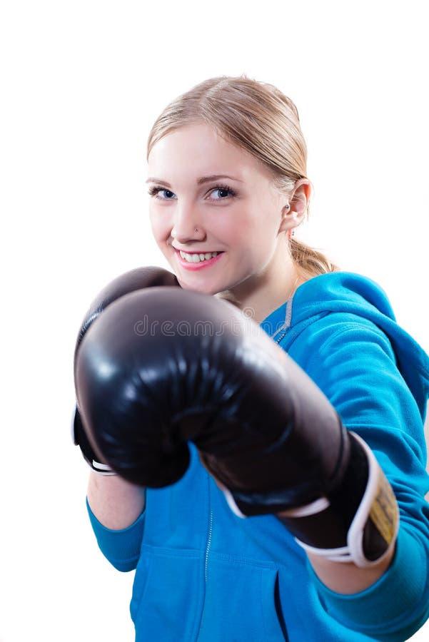 bokserscy rękawiczek kobiety potomstwa zdjęcie royalty free