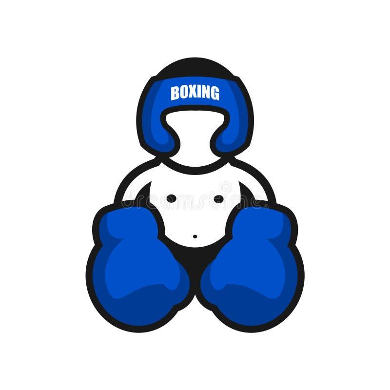 bokserska 4 ikony ilustracji