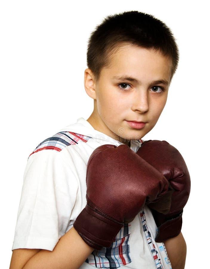 bokserska chłopiec obraz stock