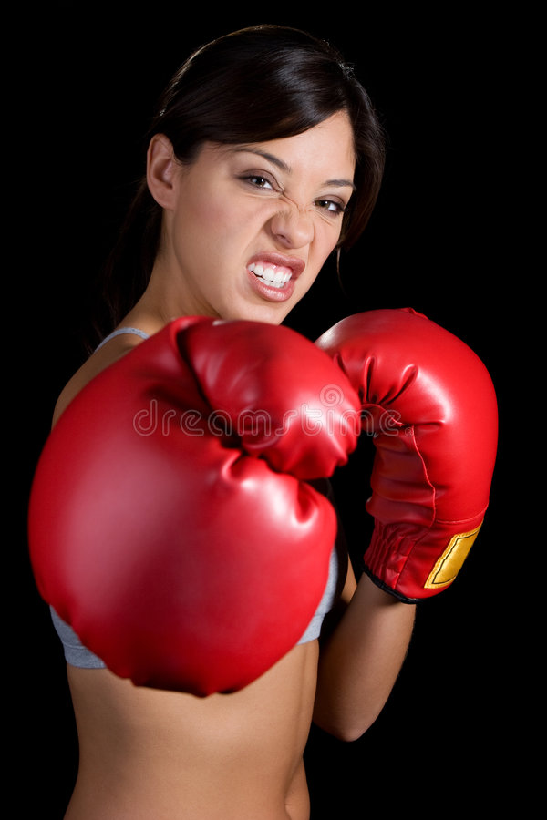 bokserska kobieta obrazy stock
