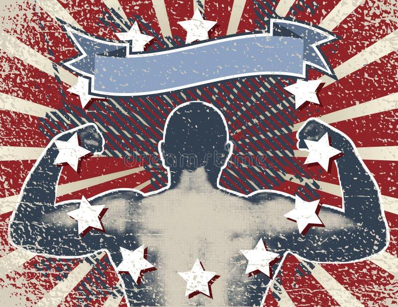 bokserska noc ilustracji