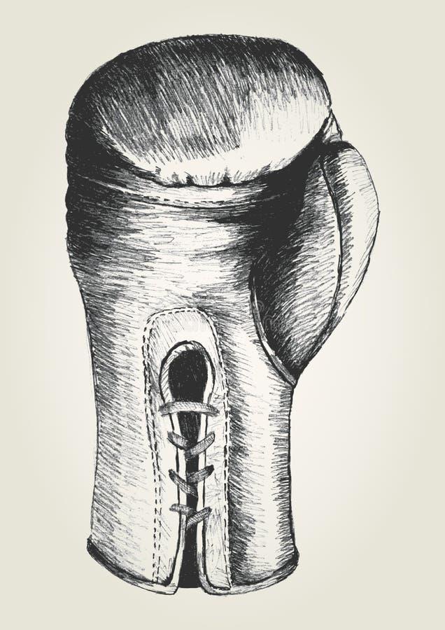 Bokserska rękawiczka royalty ilustracja