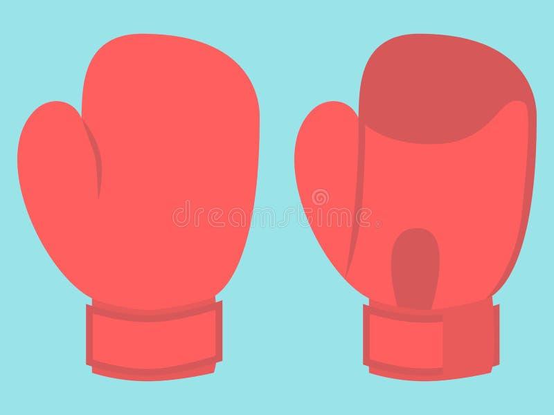 Bokserska rękawiczka na błękicie ilustracji