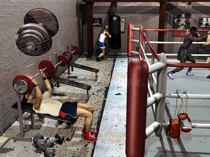 bokserska sala gimnastyczna ilustracja wektor