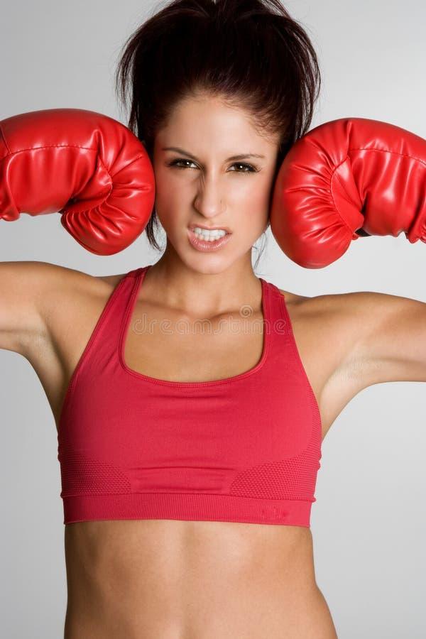 bokserska sprawności fizycznej rękawiczek kobieta fotografia royalty free