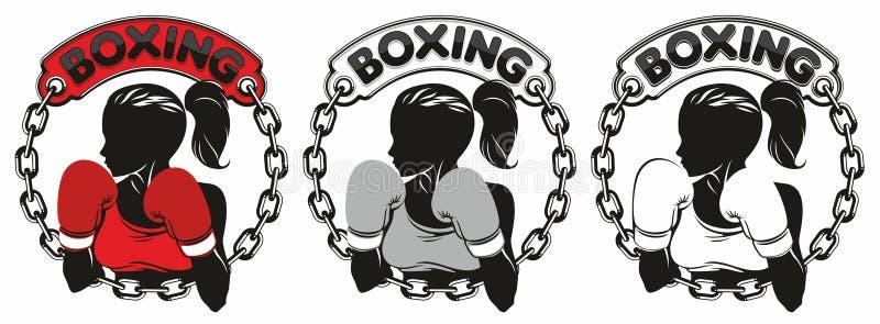 Bokserski Świetlicowy logo royalty ilustracja