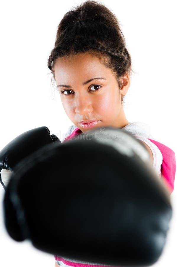 bokserski dźgnięcie mieszający poncza rasy nastolatka potomstwa obraz royalty free