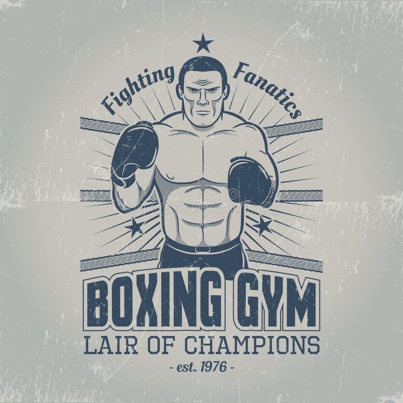 Bokserski gym logo ilustracja wektor