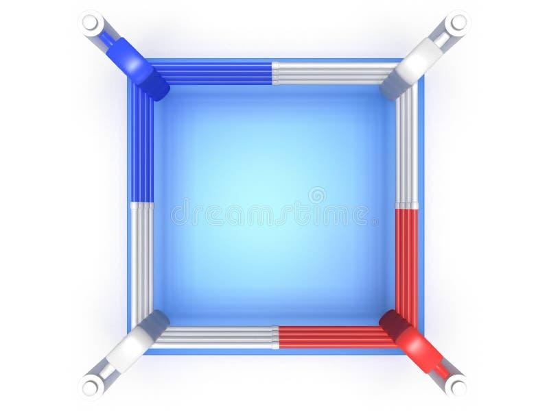 Bokserski pierścionek. Wysoka rozdzielczość 3d odpłacają się. ilustracji