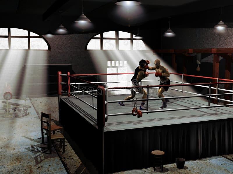 bokserski szkolenie ilustracji