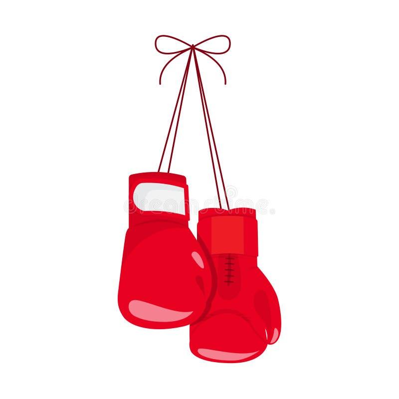 bokserski target112_1_ rękawiczek ilustracji